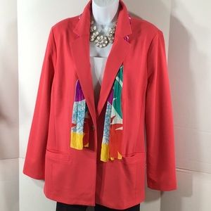 Chico's bright knit jacket blazer